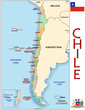 Chile South America  emblem map symbol administrative divisions