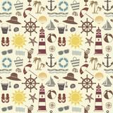Fototapety Sea themed seamless pattern 2