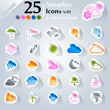 Weather icon set, sticker series