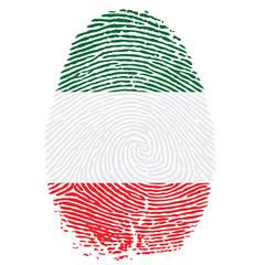 Daumenabdruck in italienischen Farben