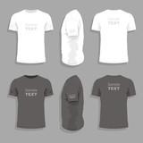 Fototapety Men's t-shirt design template