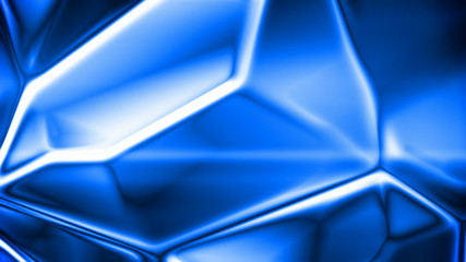 Abstract blue crystal background (seamless loop)