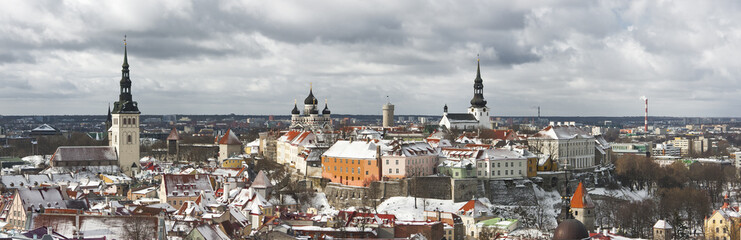 Panorama of the Old Town of Tallinn