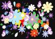sfondo fiorellini e farfalle