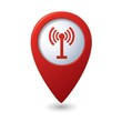 Map pointer with wireless icon