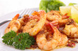 Close Up On Cooked Shrimp And ...