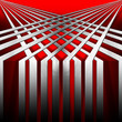 Red and Metal Geometric Background