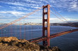 famous view of Golden Gate Bridge