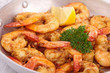 casserole with grilled shrimp