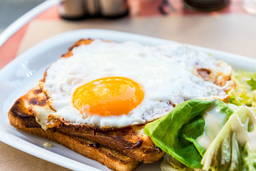 French Toasted Sandwich - croque madame