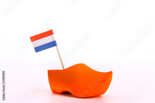 Wooden Shoe and flag