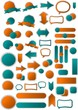 Color set of web arrows, tags, stickers, buttons