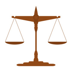 Scales of Justice. vector