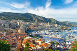 view of Monaco harbor prepared for Formula 1 Grand Prix de Monac