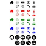 Contact icons black red green blue white