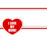 Mother's day. Sticker heart.