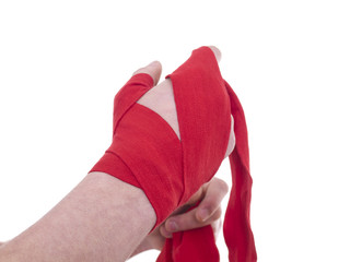 hand and bandage