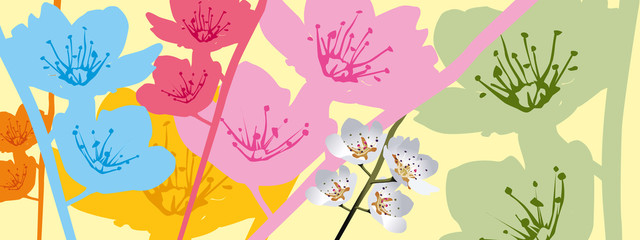 quadro primaverile in fiore
