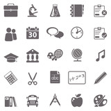 Fototapety School basic icons