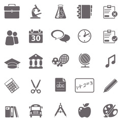 School basic icons