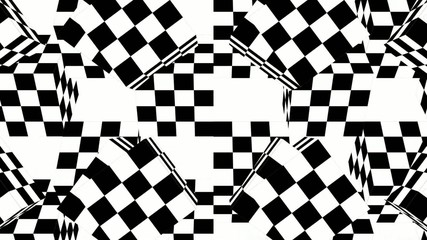 abstract optical art loop