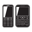 Modern mobile set phone with QWERTY keyboard