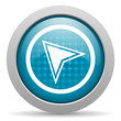 navigation blue circle web glossy icon