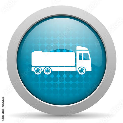 truck blue circle web glossy icon