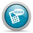 mms blue circle web glossy icon