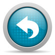 back blue circle web glossy icon