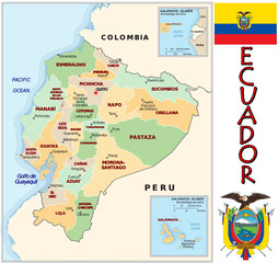 Ecuador South America national emblem map symbol motto