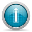 battery blue circle web glossy icon