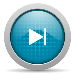 next blue circle web glossy icon