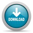 download blue circle web glossy icon