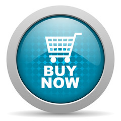 buy now blue circle web glossy icon