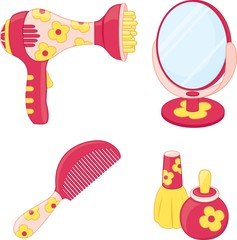 Toys set. Hairdresser