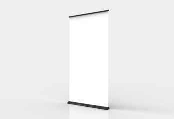 Blank roll-up poster banner display