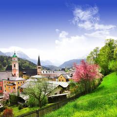 pictorial small Alpen villages - Berchtesgaden, Bavaria