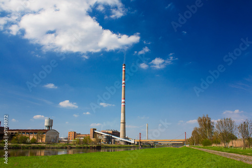 Scenery with factory
