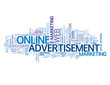 """ONLINE ADVERTISEMENT"" Tag Cloud (e-marketing advertising web)"