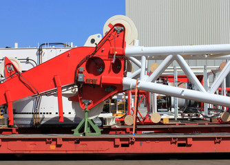 Components of loading equipment in crane building factory