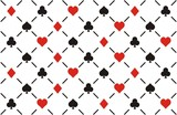 clubs , diamonds , hearts  and spades seamless pattern
