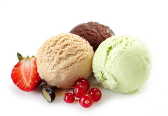 Various ice cream balls