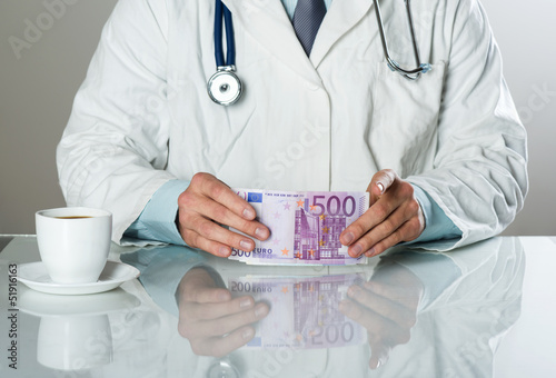 doctor with money