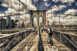 Brooklyn Bridge view, New York City