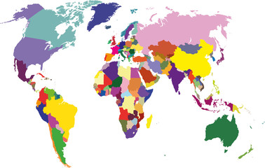 vector_political world map