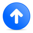 arrow up blue circle web glossy icon