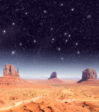 Stars over the wonderful Monument Valley scenario poster