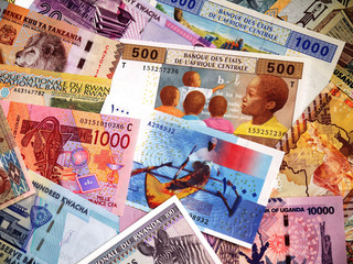 Банкноты стран Африки