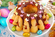 marble ring cake with chocolate and sprinkles